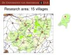 research area 15 villages