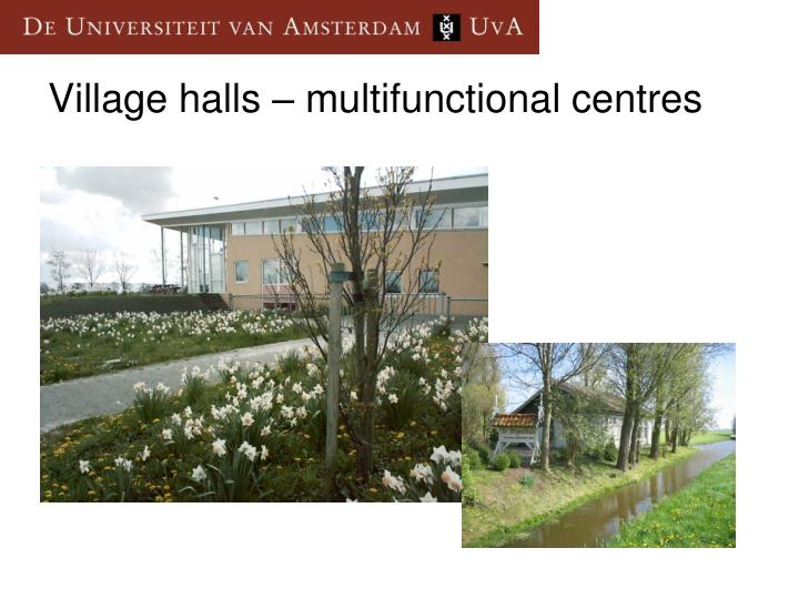 Village halls – multifunctional centres