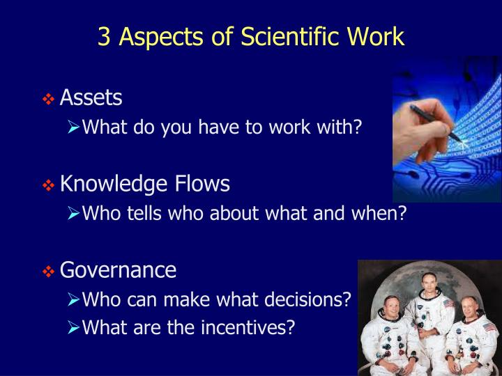 3 Aspects of Scientific Work