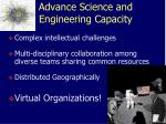 advance science and engineering capacity