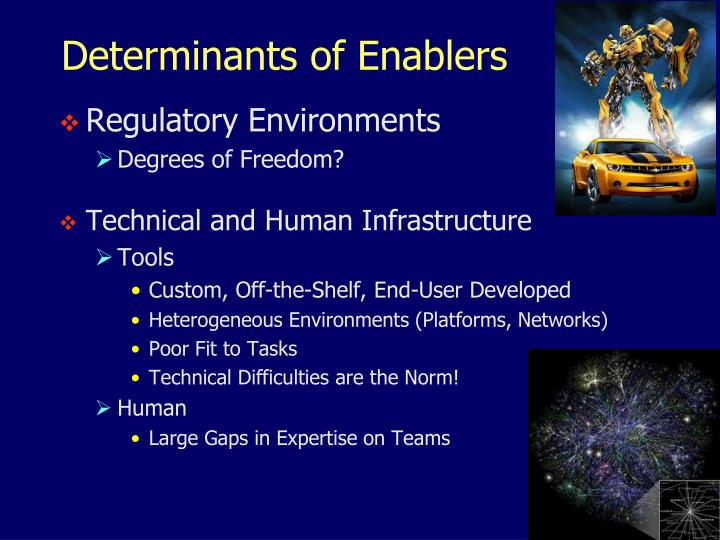 Determinants of Enablers