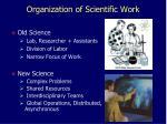 organization of scientific work