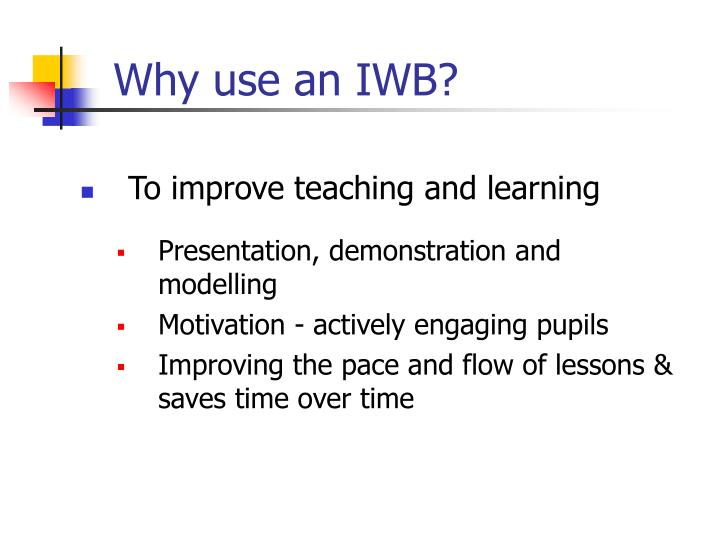Why use an IWB?