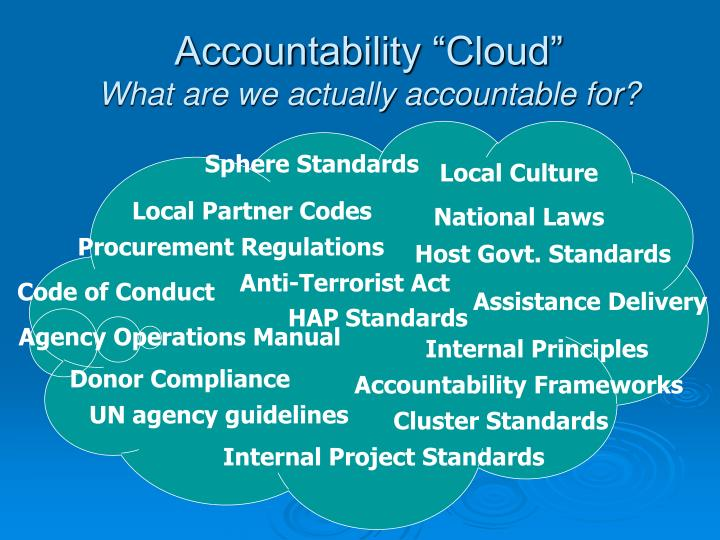"Accountability ""Cloud"""