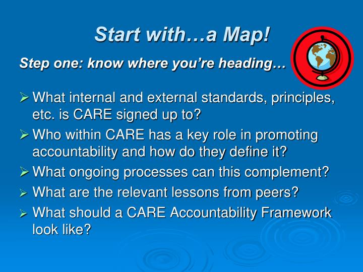 Start with…a Map!