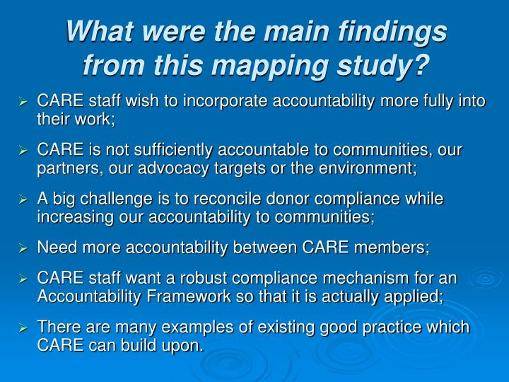 What were the main findings from this mapping study?