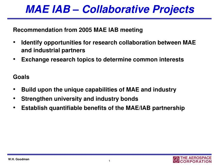 Mae iab collaborative projects