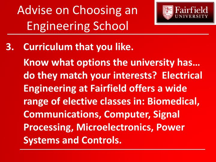 Advise on Choosing an Engineering School