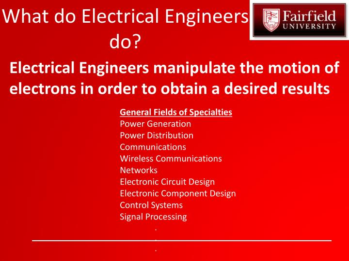 What do Electrical Engineers do?