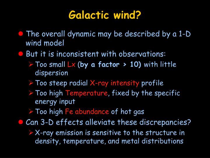 Galactic wind?