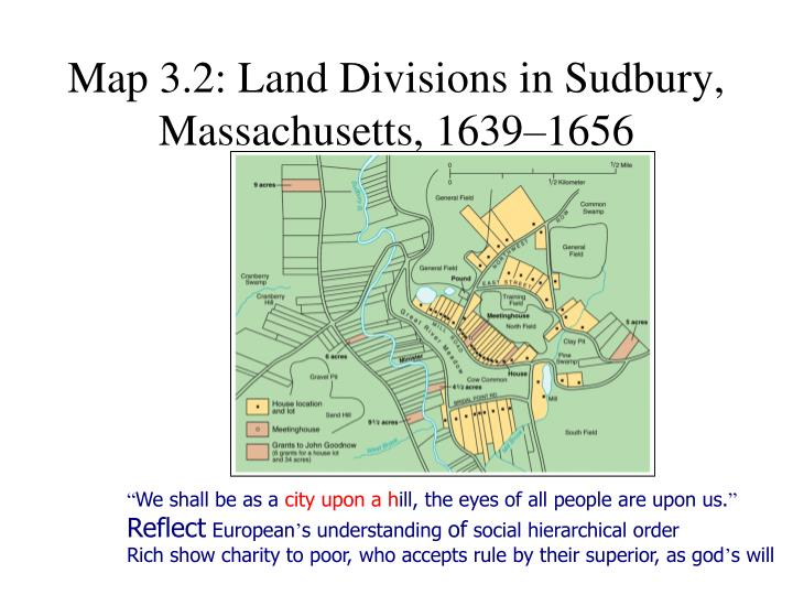 Map 3.2: Land Divisions in Sudbury, Massachusetts, 1639–1656