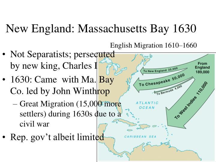 New England: Massachusetts Bay 1630