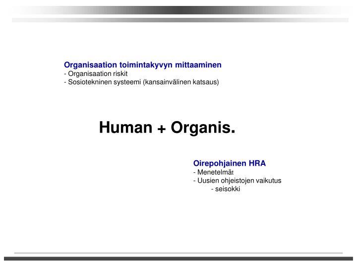 Organisaation toimintakyvyn mittaaminen