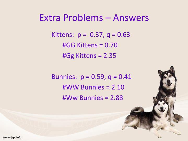 Extra Problems – Answers