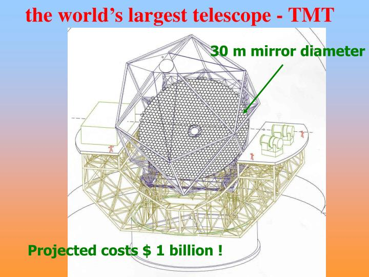 the world's largest telescope - TMT