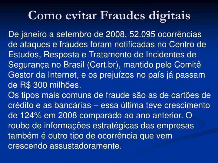 Como evitar Fraudes digitais