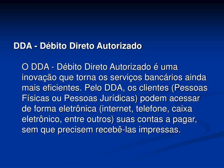 DDA - Débito Direto Autorizado