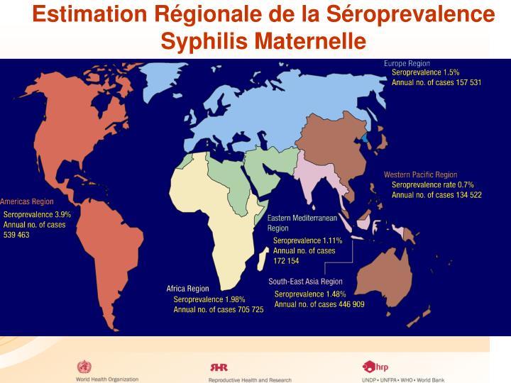 Estimation Régionale de la Séroprevalence Syphilis Maternelle