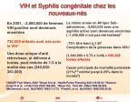 vih et syphilis cong nitale chez les nouveaux n s