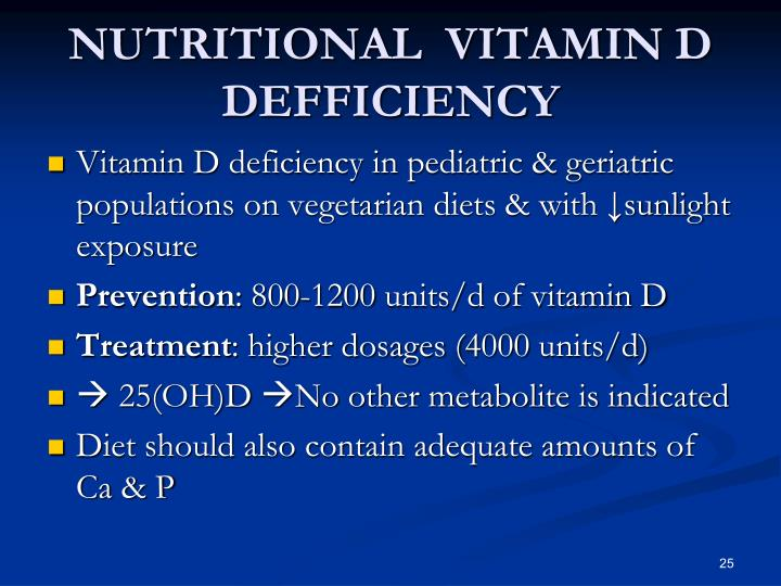 NUTRITIONAL  VITAMIN D DEFFICIENCY