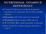 nutritional vitamin d defficiency