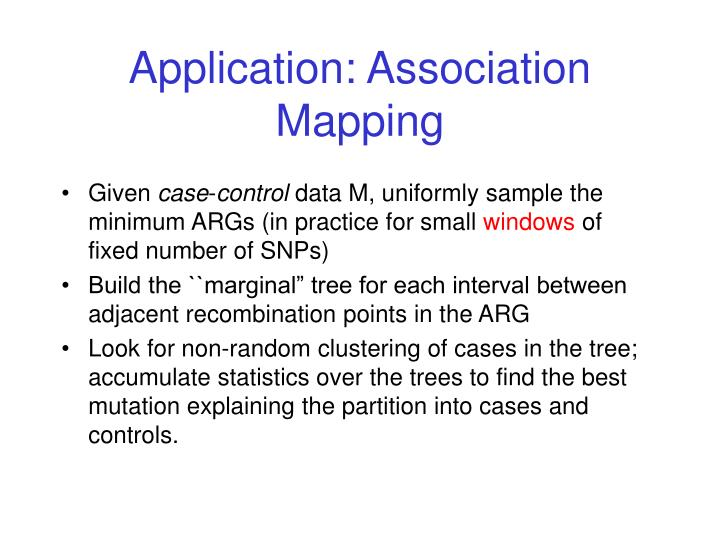 Application: Association Mapping