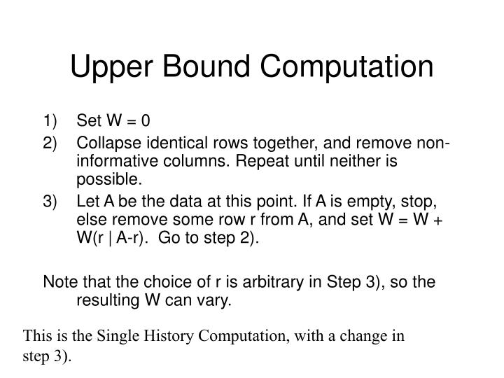 Upper Bound Computation
