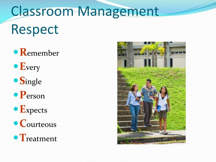Classroom Management Respect