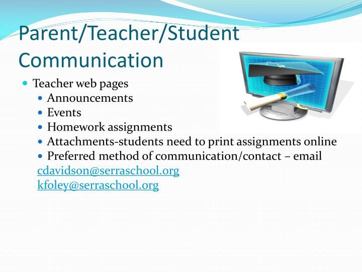 Parent/Teacher/Student Communication