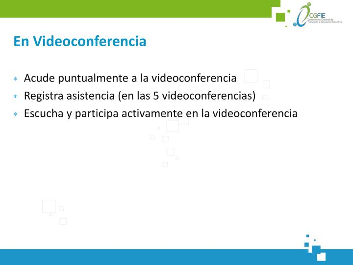 En Videoconferencia