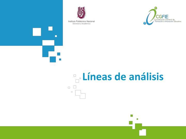 Líneas de análisis
