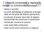 1 7 autorit competente a regolare la liturgia le conferenze episcopali11