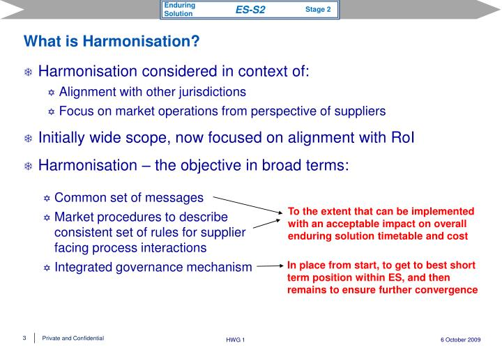 What is harmonisation