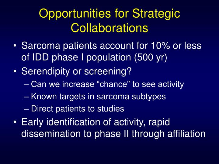 Opportunities for Strategic Collaborations