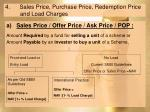 4 sales price purchase price redemption price and load charges