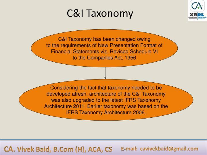 C&I Taxonomy