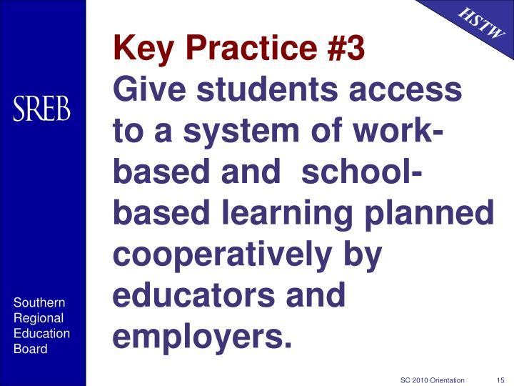 Key Practice #3