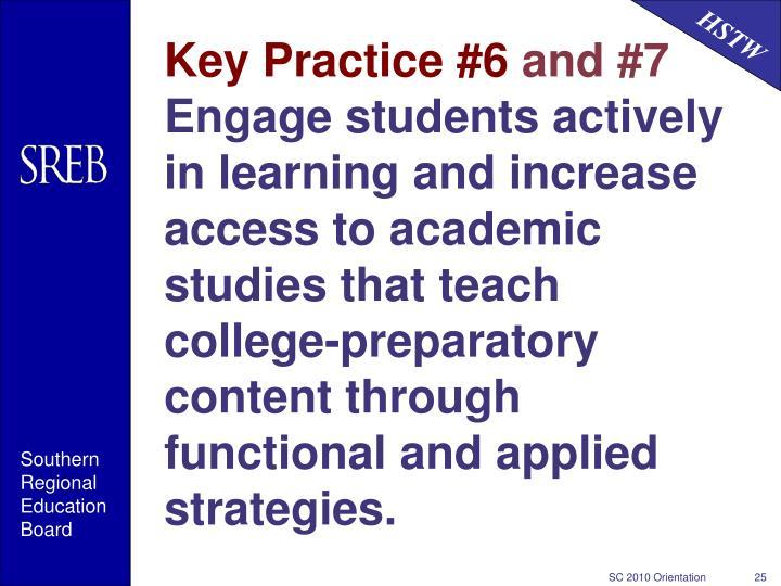 Key Practice #6