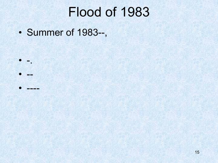 Flood of 1983