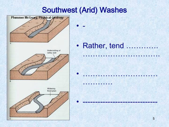 Southwest (Arid) Washes