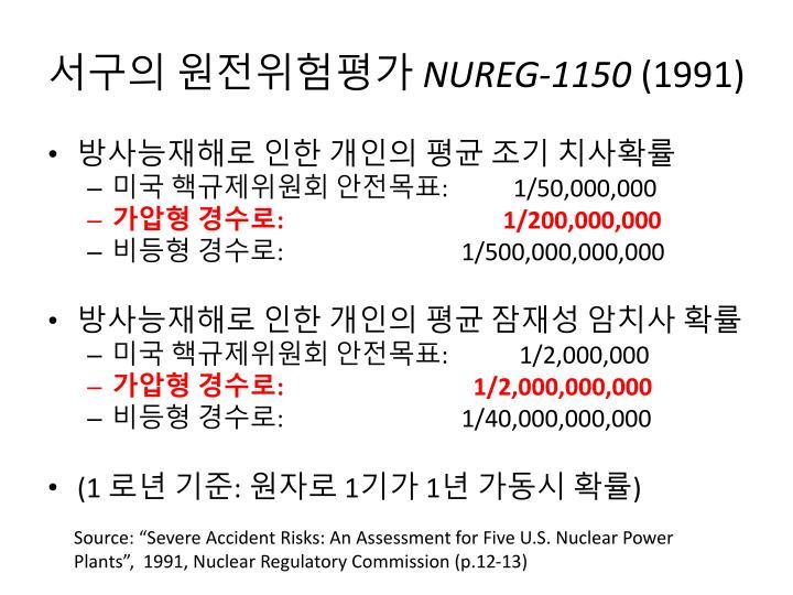 서구의 원전위험평가