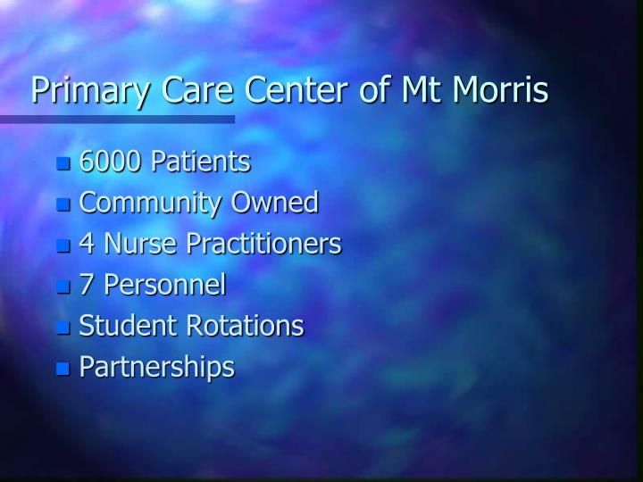 Primary Care Center of Mt Morris