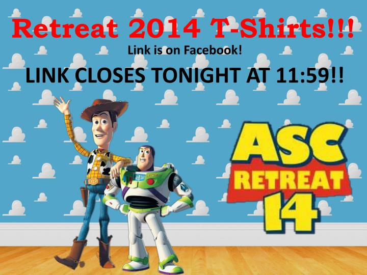 Retreat 2014 T-Shirts!!!