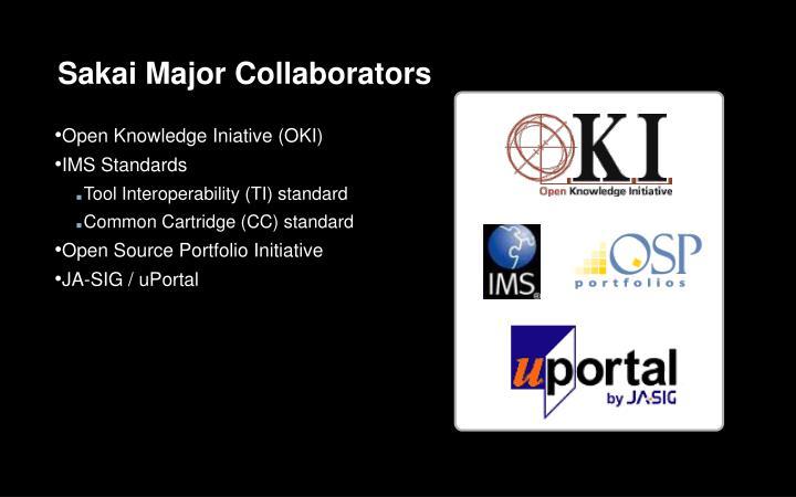 Sakai Major Collaborators