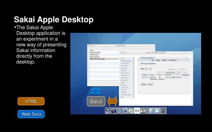 Sakai Apple Desktop