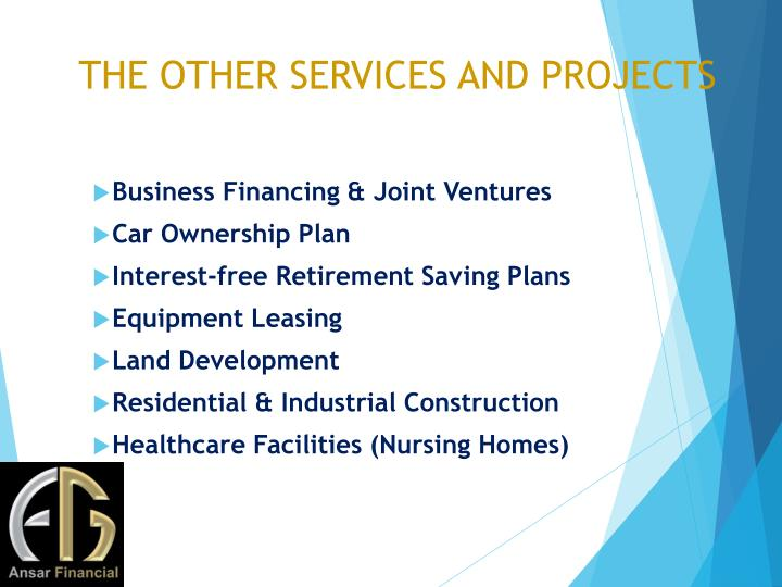 THE OTHER SERVICES AND PROJECTS