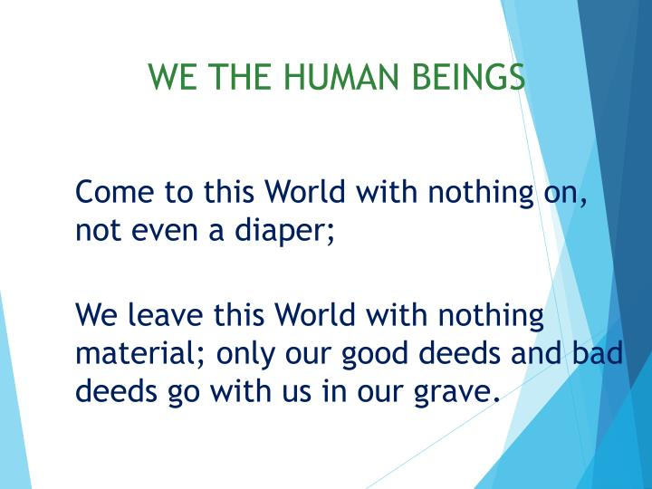 WE THE HUMAN