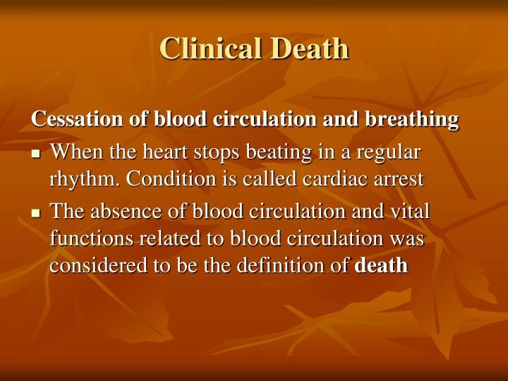 Clinical Death