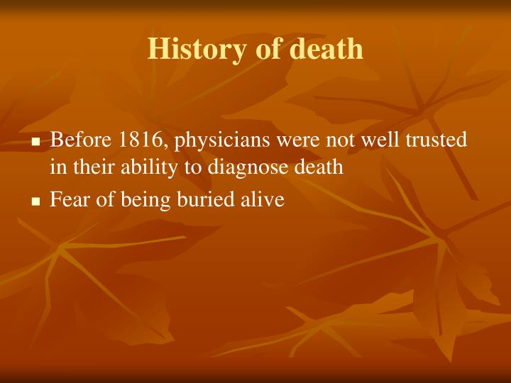 History of death