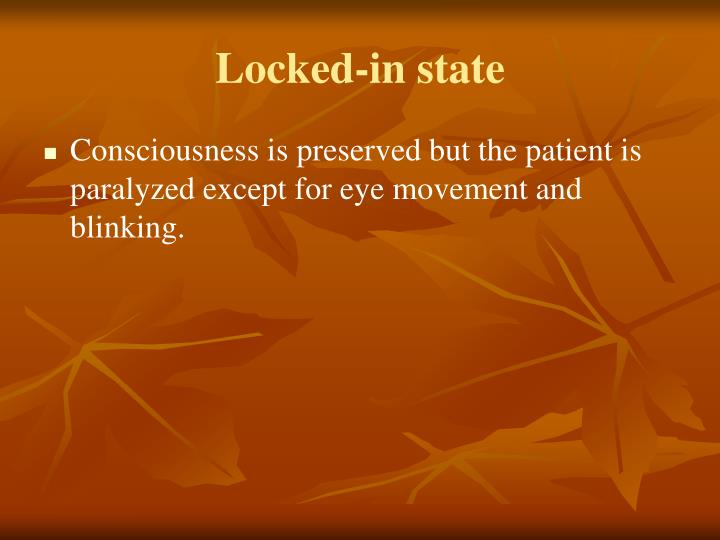 Locked-in state
